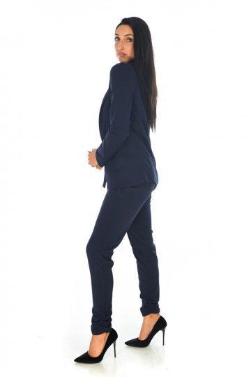 Γυναικείο μπλε σακάκι μεσάτο 4e2eee9a309