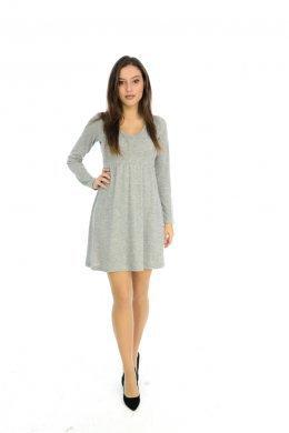 Μεσάτο φόρεμα με V λαιμόκοψη και τύπου πλισέ λεπτομέρειες 3c1632466ad