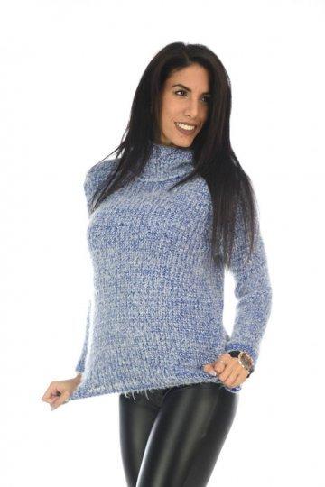 Τριχωτό γυναικείο πουλόβερ ζιβάγκο fe722dc3275