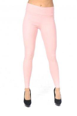 Ροζ τύπου υφασμάτινο παντελόνι-κολάν με τσεπάκια πίσω και φαρδιά τύπου μπάσκα στη μέση