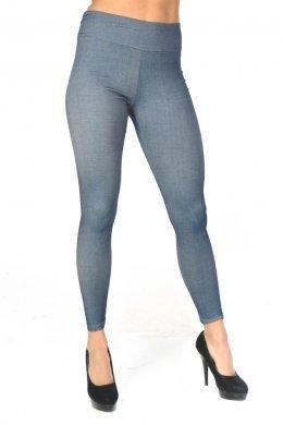 Ίντιγκο τύπου υφασμάτινο παντελόνι-κολάν