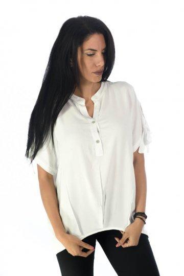 Μπλούζα τύπου πουκάμισο, με κουμπάκια στο μπούστο
