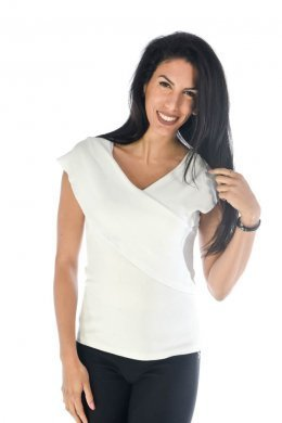 Αμάνικο μπλουζάκι με χιαστί λεπτομέρεια στο μπούστο και στη πλάτη