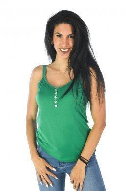 Μπλουζάκι με ραντάκια, κουμπάκια στη λαιμόκοψη και λεπτομέρειες