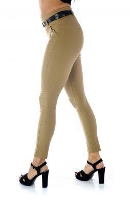 Πουρο υφασμάτινο παντελόνι-κολάν, με ζωνάκι και τύπου μπάσκα