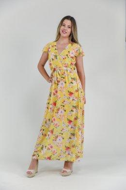 Φλοράλ φόρεμα μακρύ με κρουαζέ λεπτομέρεια στο μπούστο και δέσιμο στη μέση. Το φόρεμα διαθέτει κρουαζέ λεπτομέρεια στο μούστο και είναι εφαρμοστό. Στη μέση διαθέτει κορδόνι για να το προσαρμόσεις πάνω σου. Τα μανικάκια είναι κοντά κλασσικά και το μήκος του είναι μακρύ μέχρι τον αστράγαλο. Από τη μέση και κάτω είναι πιο φαρδύ, αέρινο. Είναι φλοράλ με πολύχρωμα λουλουδάκια σε έντονα χρώματα. Ένα ρούχο για όλες τις ώρες. Προτείνουμε να το φορέσεις με πλατφόρμα και μία τσάντα ώμου, για μία καθημερινή εμφάνιση. Επίσης μπορείς να το συνδυάσεις με ένα ελαφρύ πανωφόρι για τα πιο κρύα βράδια. Ένα άκρως ανοιξιάτικο ρούχο που μπορεί να φορεθεί και σε μία πιο επίσημη εμφάνιση. Το ύφασμά του είναι κατά 80% poliester και κατά 20% viscose. Είναι onesize αλλά έχει πολύ φαρδιά γραμμή. Καλύπτει και μεγάλα νουμεράκια έως και large. Το μοντέλο της φωτογραφίας έχει ύψος 1.72. Ένα άνετο φόρεμα, αέρινο που θα λατρέψεις. Φλοράλ τάση της φετινής σεζόν.Στο eshop μας θα βρεις τα πιο ξεχωριστα μακρια φορεματα online!